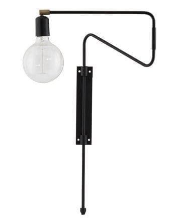 House Doctor Swing Vegglampe Sort 35 cm-0