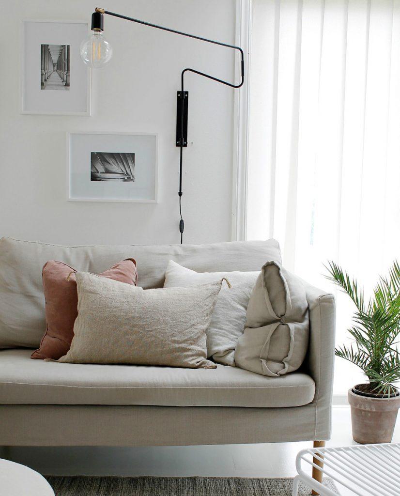 house doctor swing vegglampe sort 70 cm. Black Bedroom Furniture Sets. Home Design Ideas