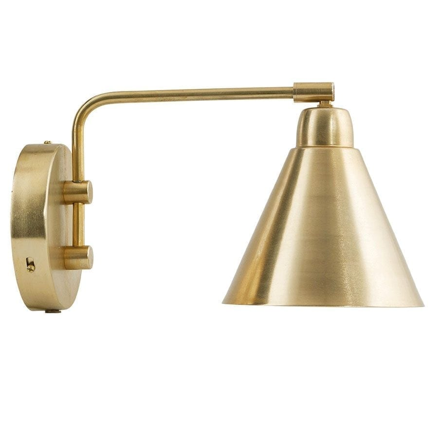 House Doctor Game Vegglampe Messing 20 cm-0