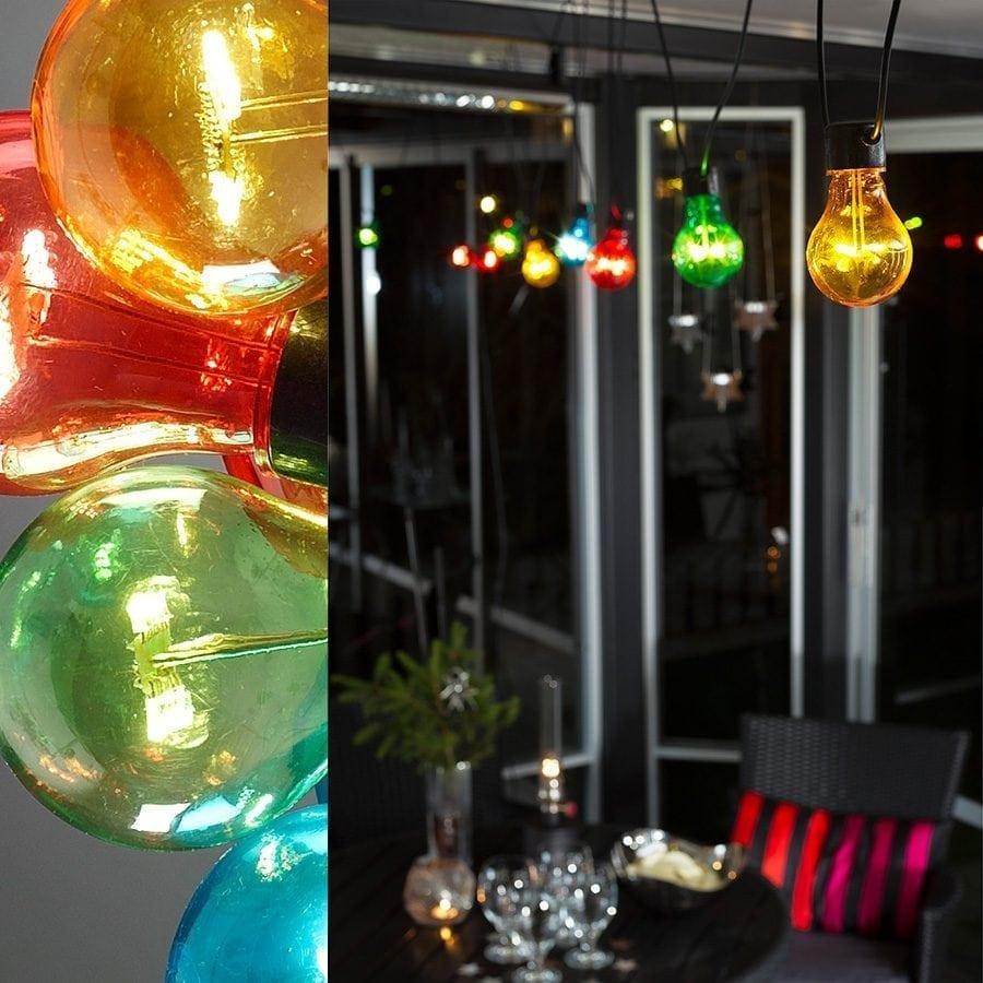 LED Party Lysslynge 10 Lys Multifarget Extra Sett-62057