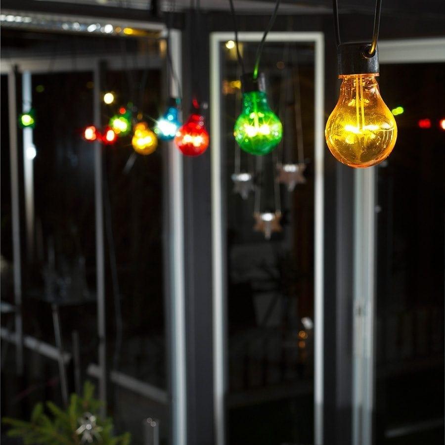 LED Party Lysslynge 10 Lys Multifarget Extra Sett-62058
