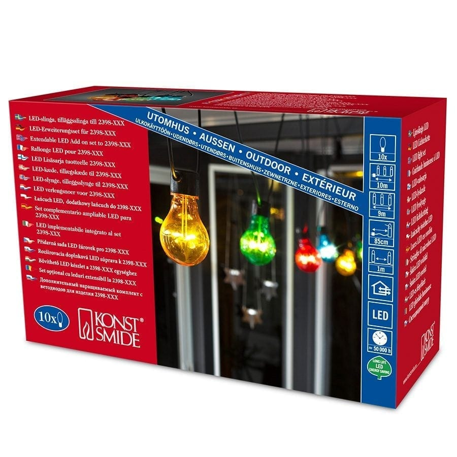LED Party Lysslynge 10 Lys Multifarget Extra Sett-62062