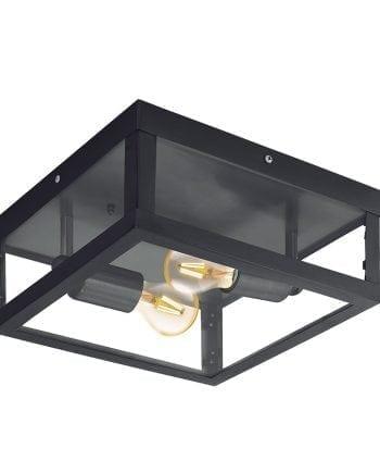 Alamonte 1 Tak-/ Vegglampe Sort-0