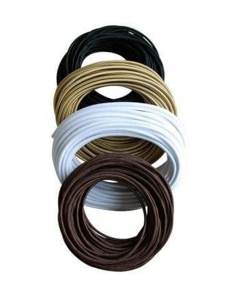 Glatt stoffkabel av silke, Metervare-0