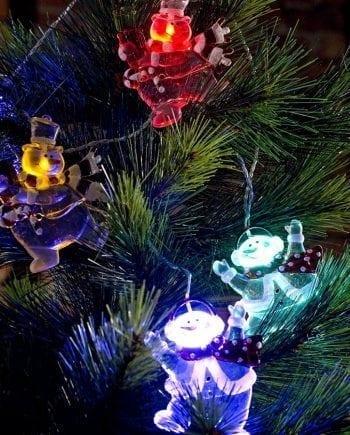 Snømenn LED Lysslynge 8 Lys Multifarget-0