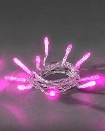 Batteridrevet LED Lysslynge 20 Lys Rosa-0
