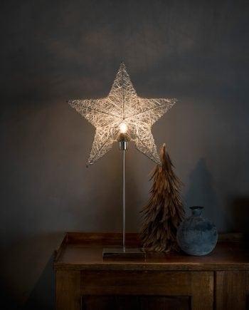 Metallstjerne på fot 2995 Sølvtråd-0