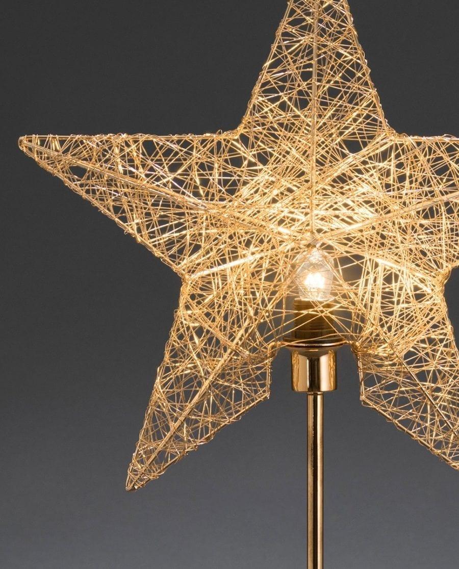 Metallstjerne på fot 2995 Messingtråd-63859