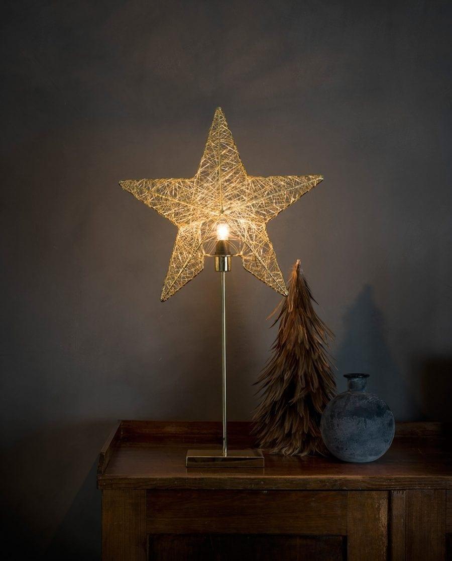Metallstjerne på fot 2995 Messingtråd-0