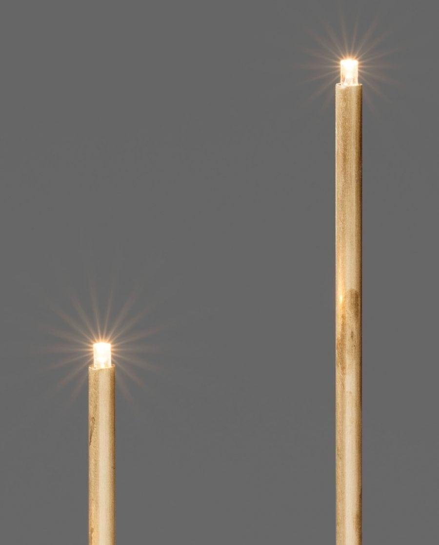 Adventsstake LED 3541 Råmessing 4 Lys-63665