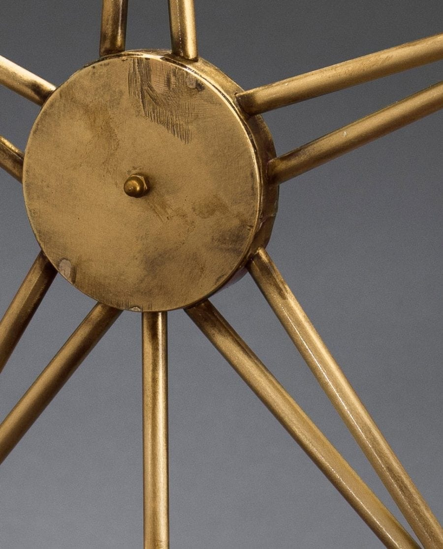 Metallstjerne på fot 3550 LED Råmessing-63873