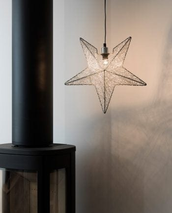 Metallstjerne 3555 Sølvtråd 40 cm-0