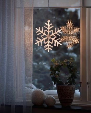 Adventsstjerne LED 4446 Snøfnugg 36 Lys-0