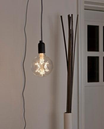 2,2W E27 125mm LED Globepære Klar Stjerne-0