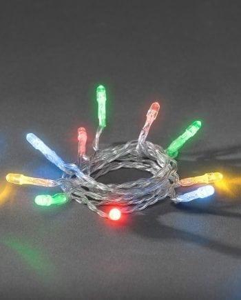 Batteridrevet Multifarget LED Lysslynge Timer 20 eller 50 Lys-0