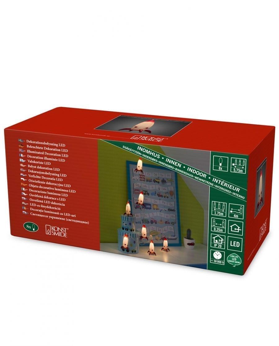 Rakett LED Lysslynge 8 Lys-64085