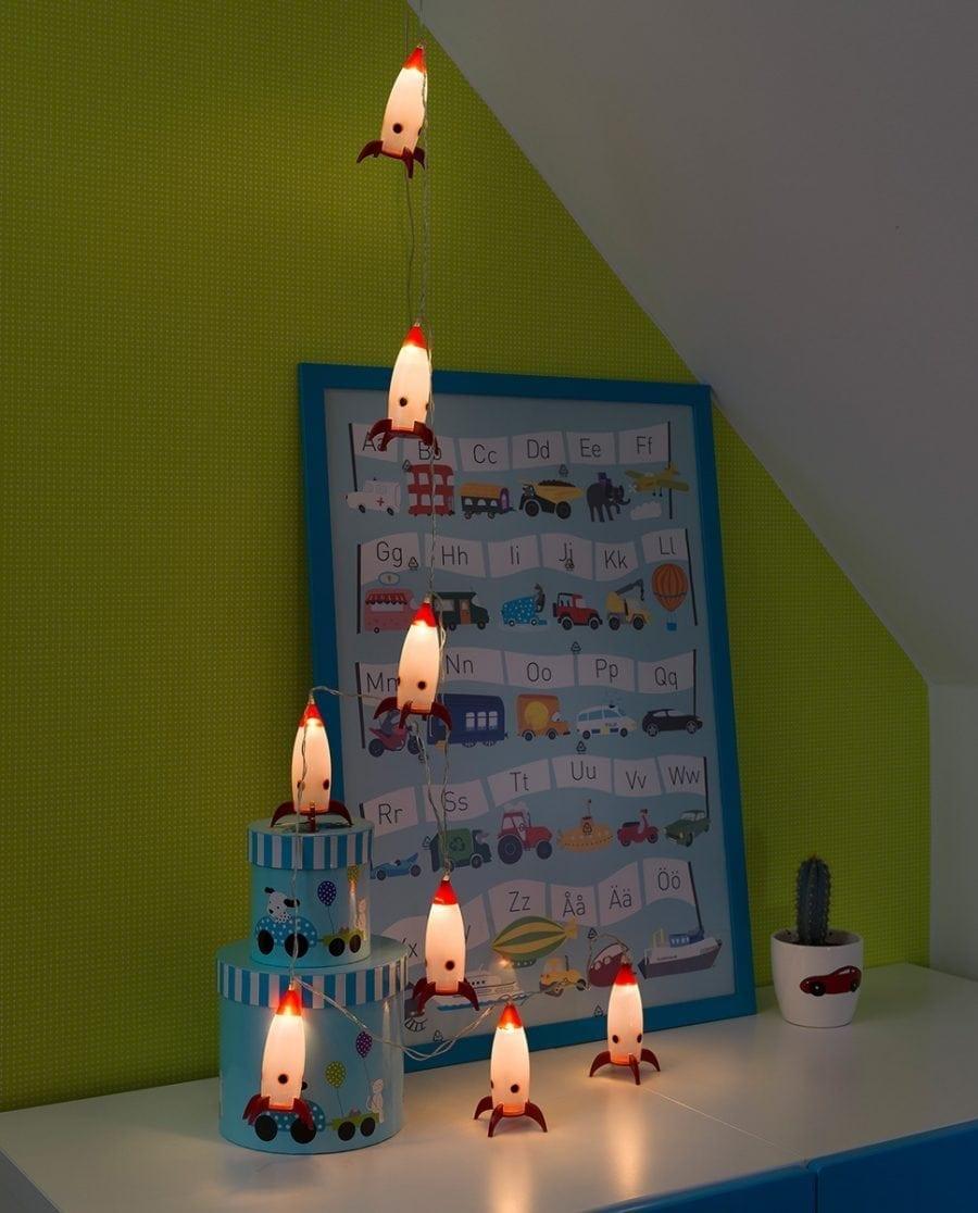 Rakett LED Lysslynge 8 Lys-64084