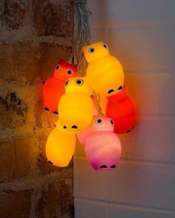 Ugler LED Lysslynge 8 Lys-0