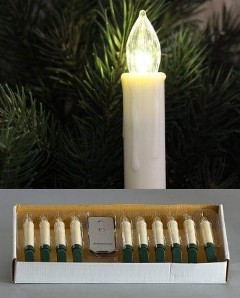 LED Juletrelys Med Fjernkontroll 10 Lys-0