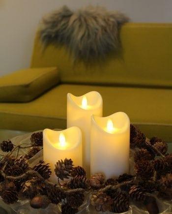 Vanntett LED Kubbelys Naturlig Flamme 3 størrelser-0