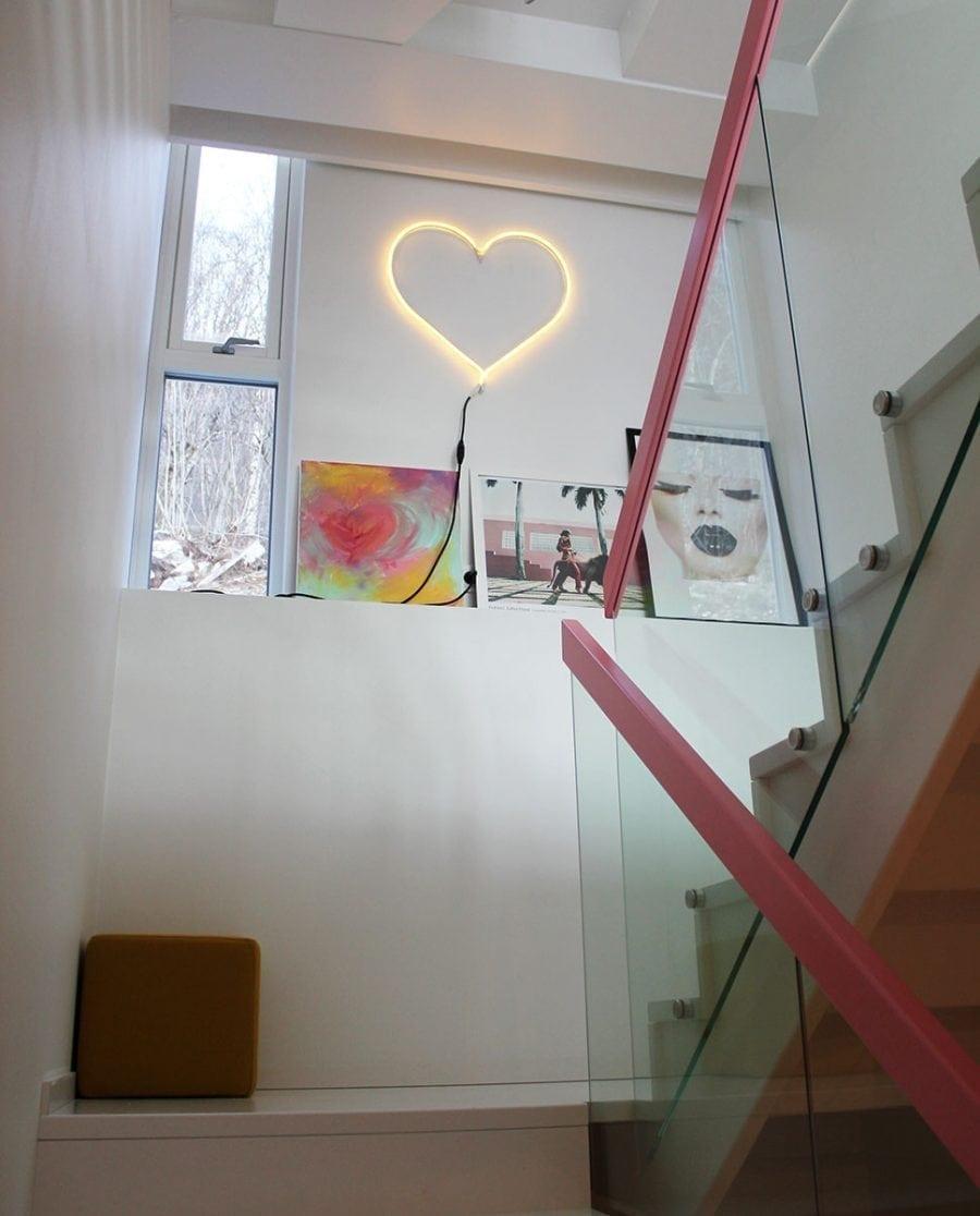 Hjerte LED Ropelight Silhuett 58 cm-67514