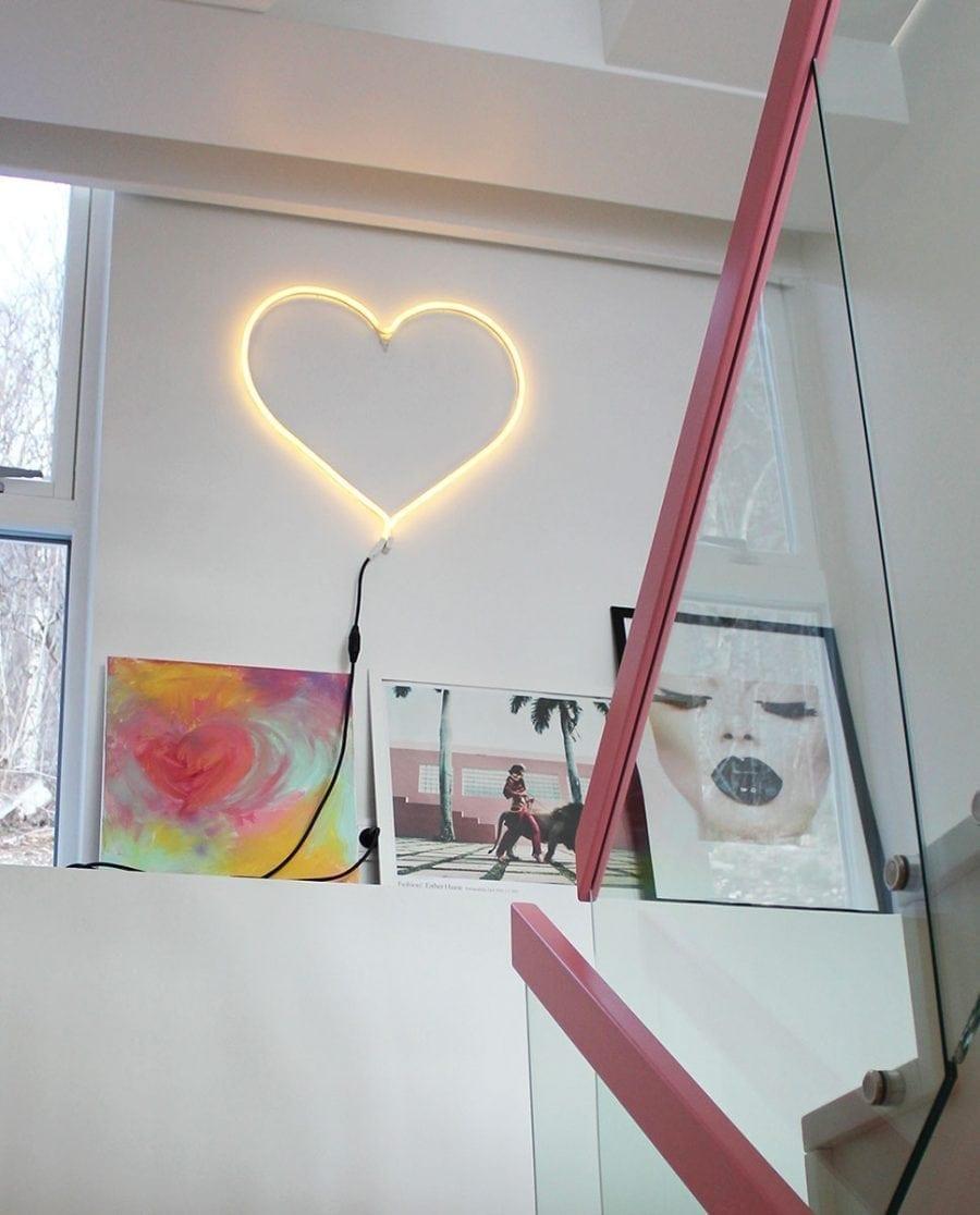 Hjerte LED Ropelight Silhuett 58 cm-0