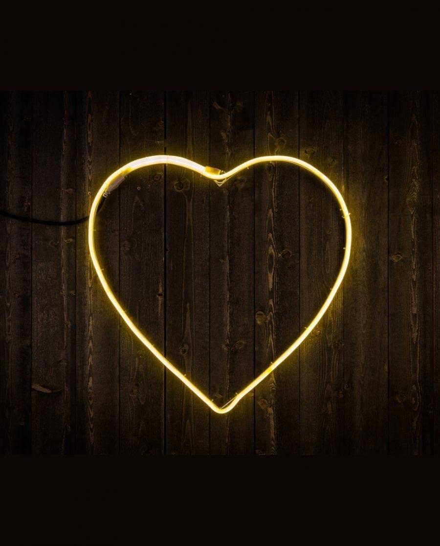 Hjerte LED Ropelight Silhuett 58 cm-64316