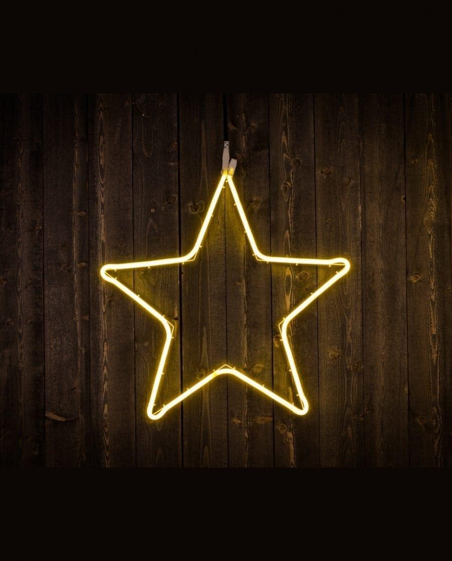 Stjerne LED Ropelight Silhuett 55 cm-0
