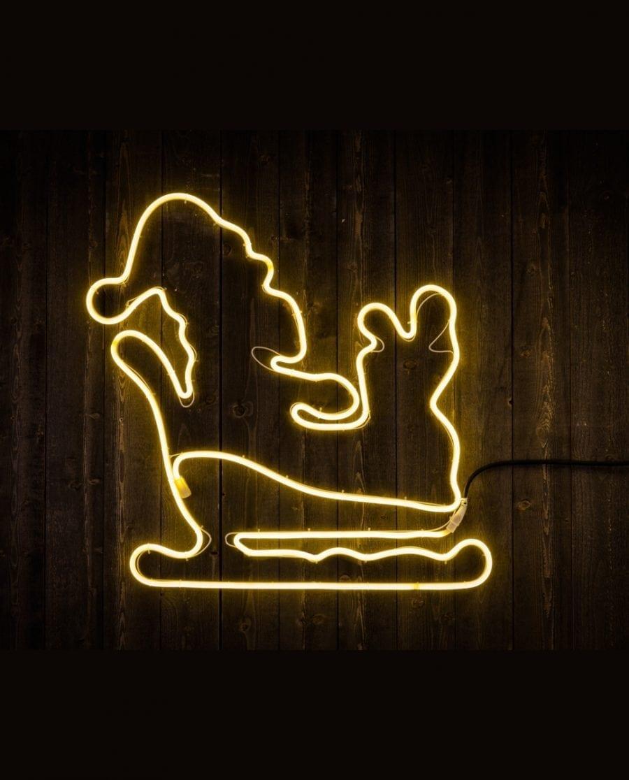 Nisse På Slede LED Ropelight Silhuett 67 cm-0