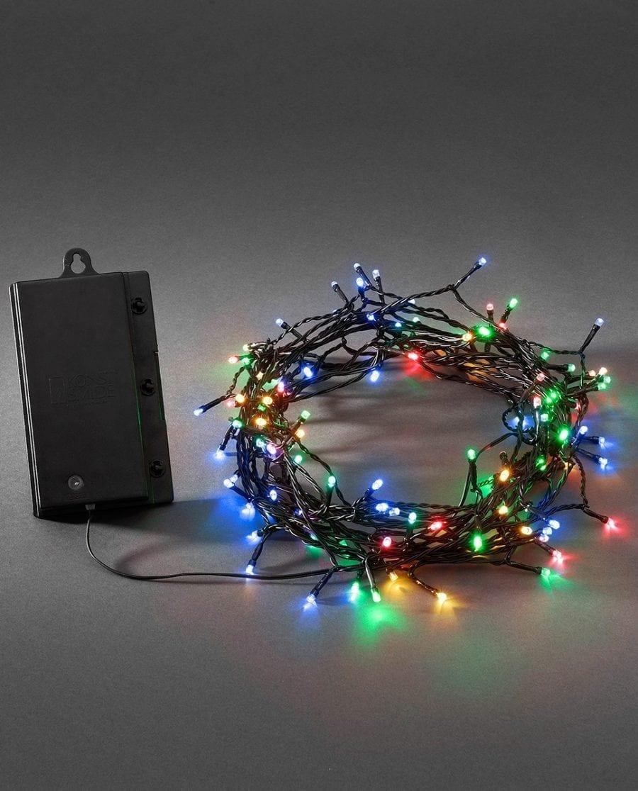 Batteridrevet Multifarget LED Lysslynge Sensor 120 eller 240 Lys-0