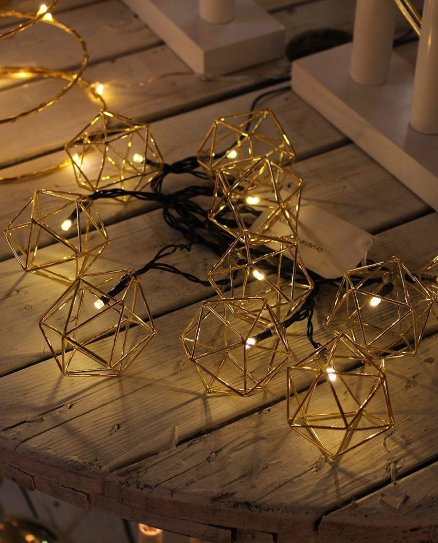 Edge Lysslynge 10 LED Messing-64554