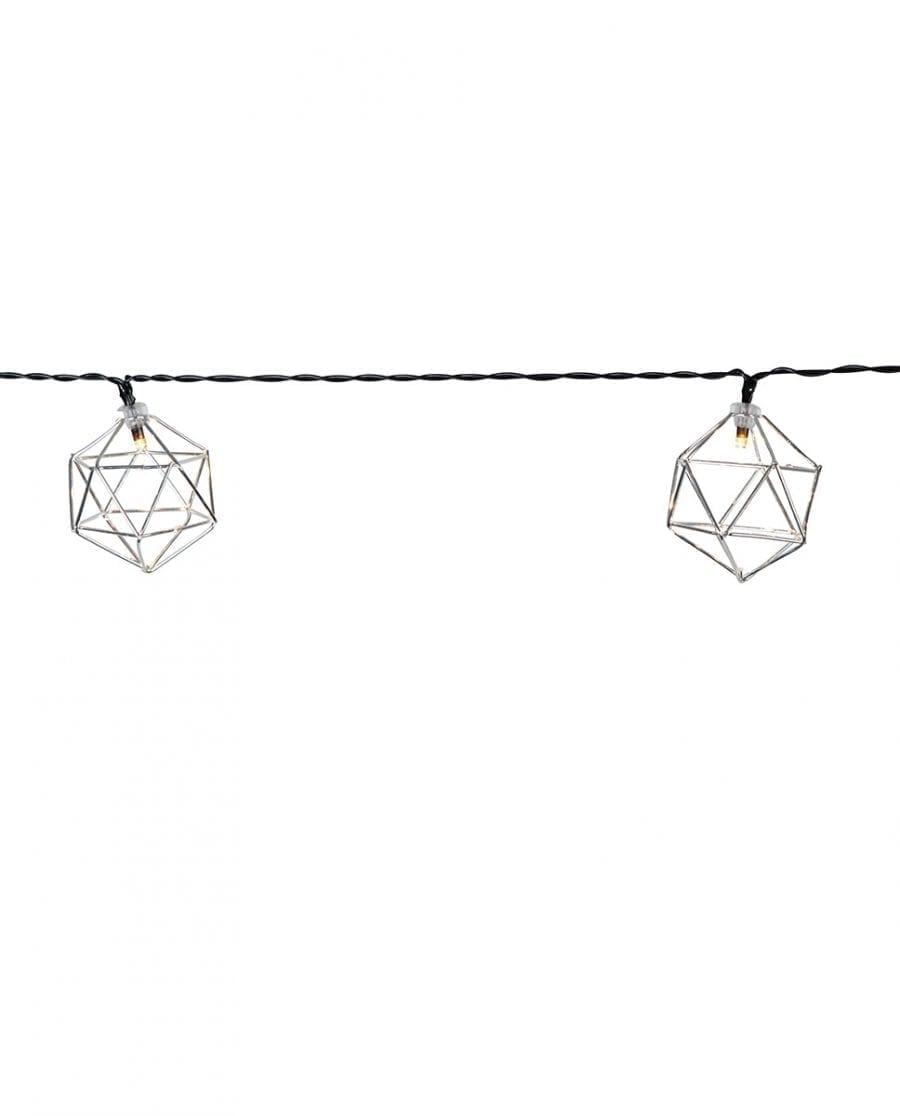 Edge Lysslynge 10 LED Sølv-64584