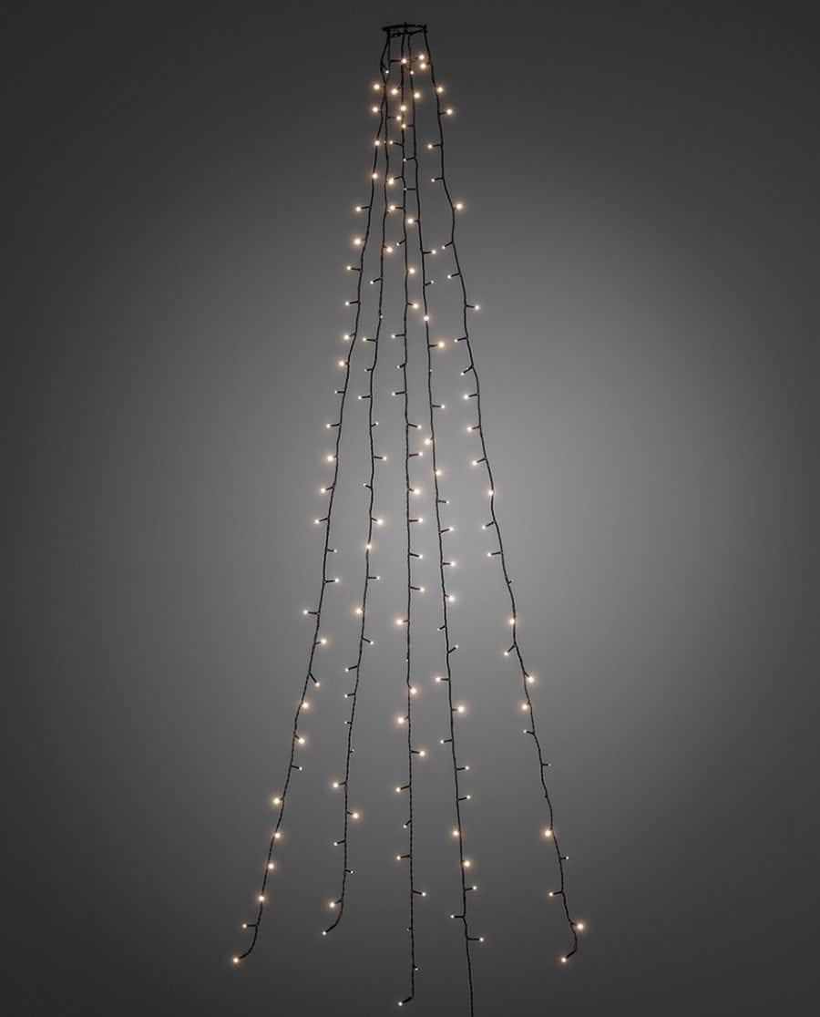 Juletrebelysning LED 5 Lengder 2,4 m 200 Lys-64225