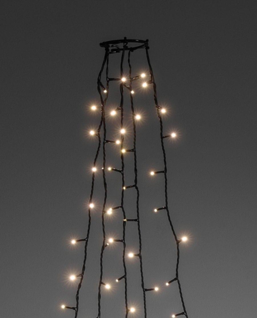 Juletrebelysning LED 5 Lengder 2,4 m 200 Lys-64229