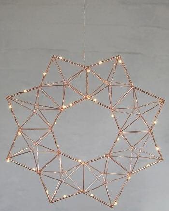Edge LED Adventsstjerne Kobber-0