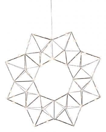Edge LED Adventsstjerne Sølv-0