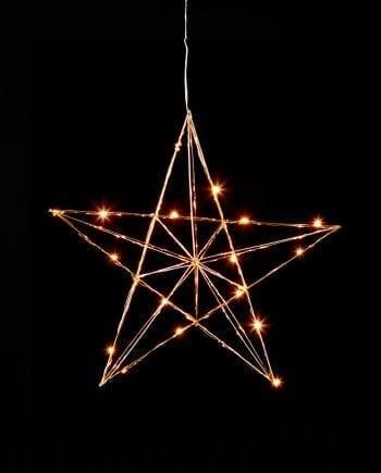 Line LED Adventsstjerne Messing-0