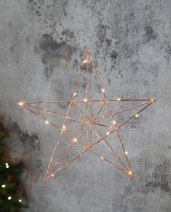 Line LED Adventsstjerne Kobber-0