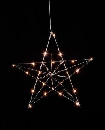 Line LED Adventsstjerne Sølv-0