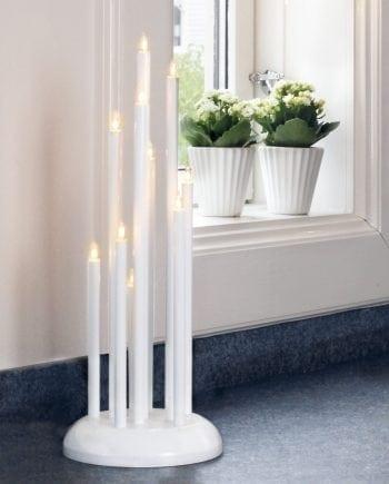 Trix Lysestake 10 Lys Hvit-0