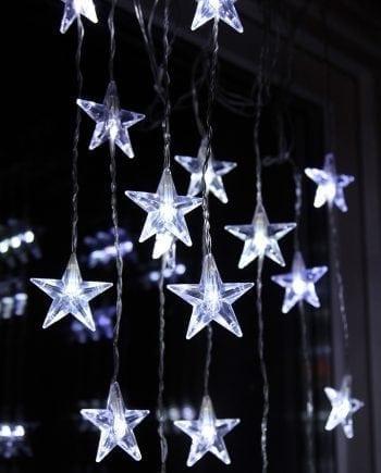 Stjernegardin 50 Kaldhvite LED 90x200 cm-0