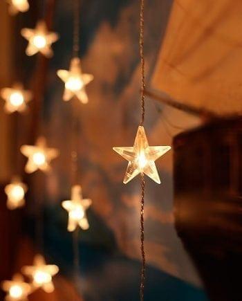 Stjernegardin 30 Varmhvite LED 90x120 cm-0