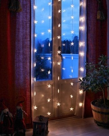 Stjernegardin 50 Varmhvite LED 90x200 cm-0