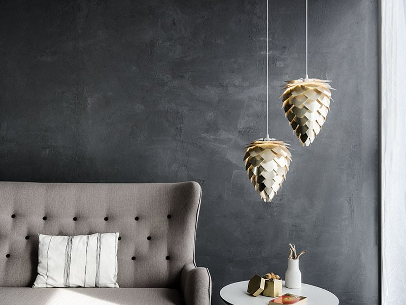 VITA Conia Mini Lampeskjerm Børstet Messing-0