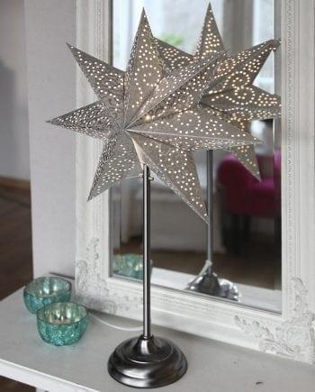 Antique Papirstjerne på Fot Sølv 55 cm-0