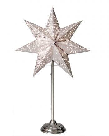 Antique Papirstjerne på Fot Hvit 55 cm-0