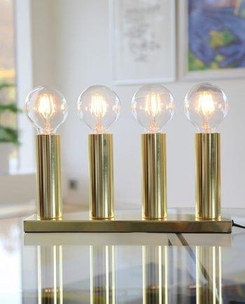 Glans 4 Lys Metallysestake Messing-0