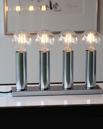 Glans 4 Lys Metallysestake Krom-0