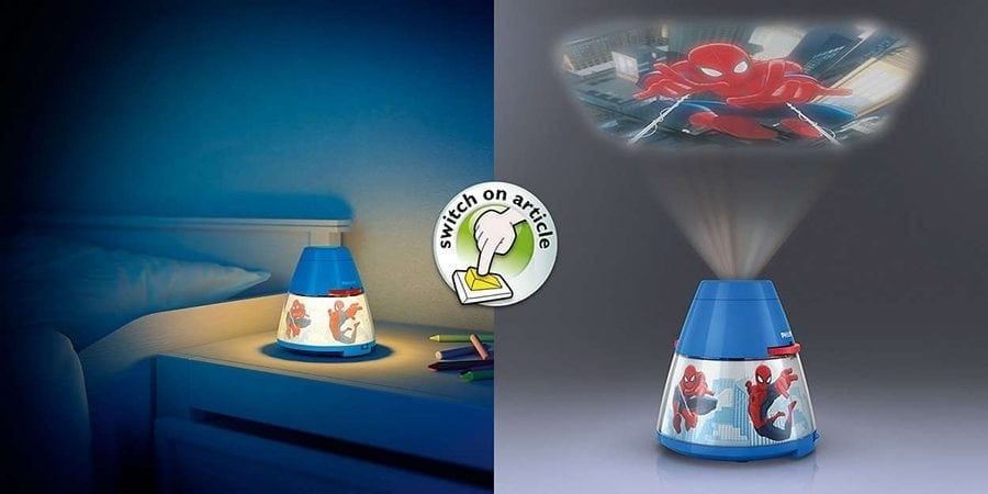 Philips Marvel 2-i-1 LED Projektor og Nattlys Spiderman-66028