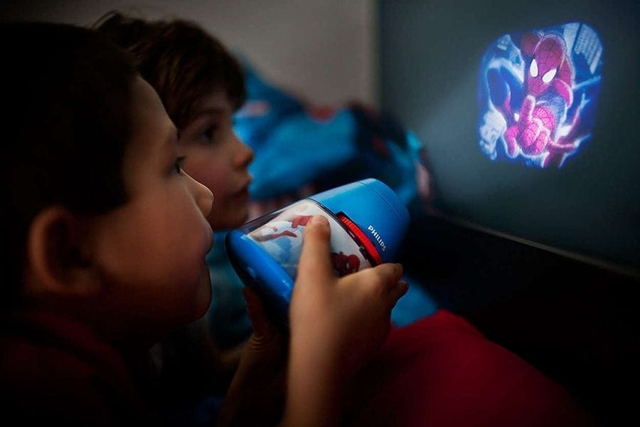 Philips Marvel 2-i-1 LED Projektor og Nattlys Spiderman-0